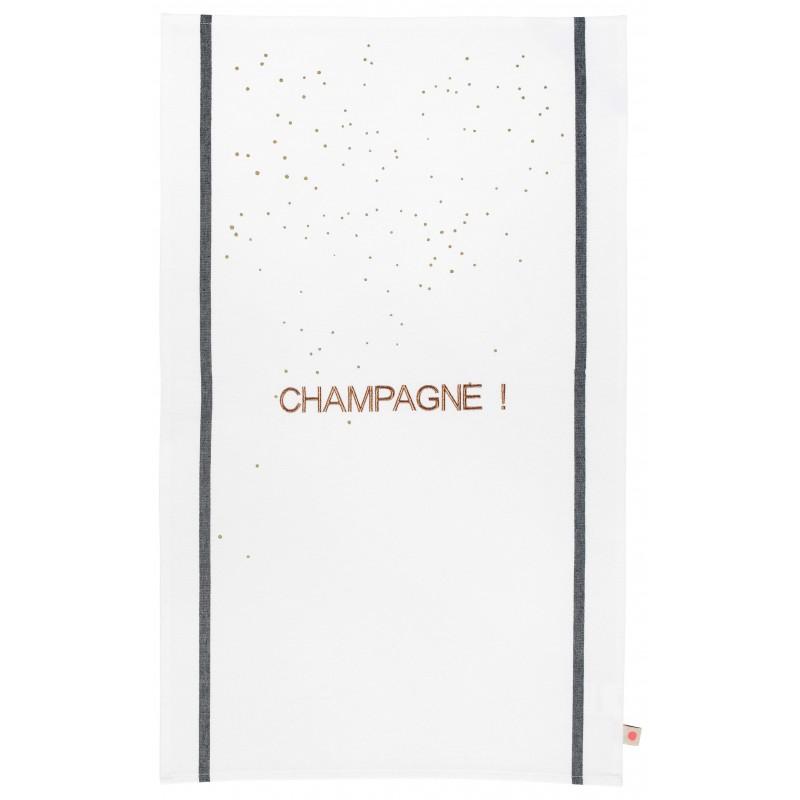 Essuie de vaisselle Champagne Cuivre * La Cerise sur le gâteau