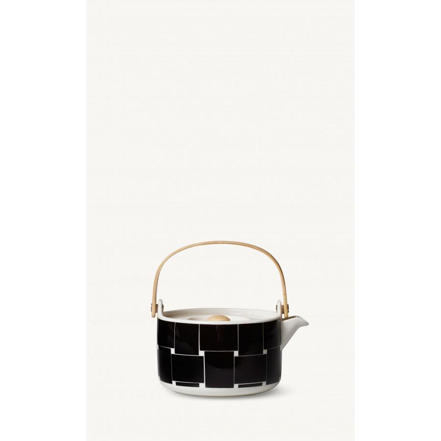 Théière Oiva Basket noire et blanche * Marimekko