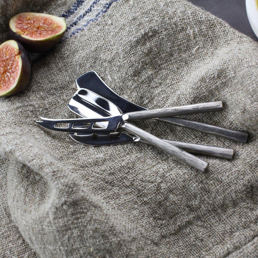 Set de couteaux à fromage Darsa argenté * Nkuku