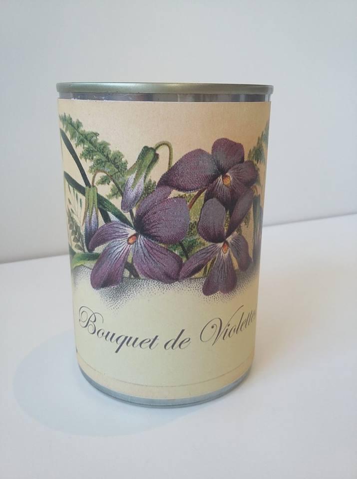 Bougie conserve Violette * Zeste de patine