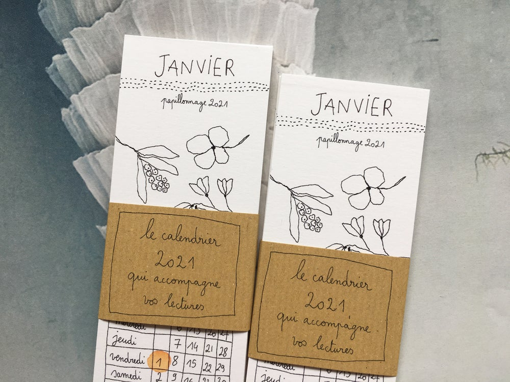 Calendrier marque-page 2021 * Papillonnage