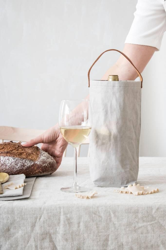 Etui rafraîchisseur pour bouteille de vin avec anse en cuir * Uashmama