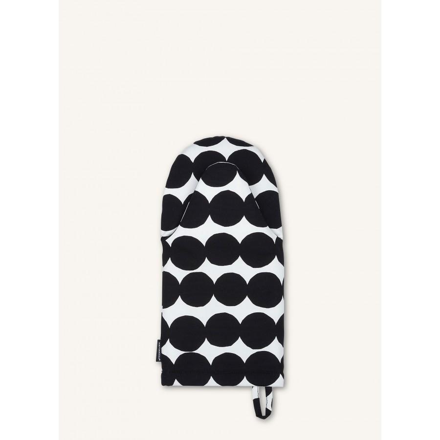 Manique pois noirs et blancs * Marimekko