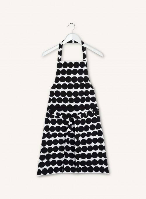 Tablier pois noirs et blancs * Marimekko