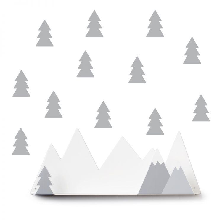 Etagère montagnes et stickers sapins * Tresxics