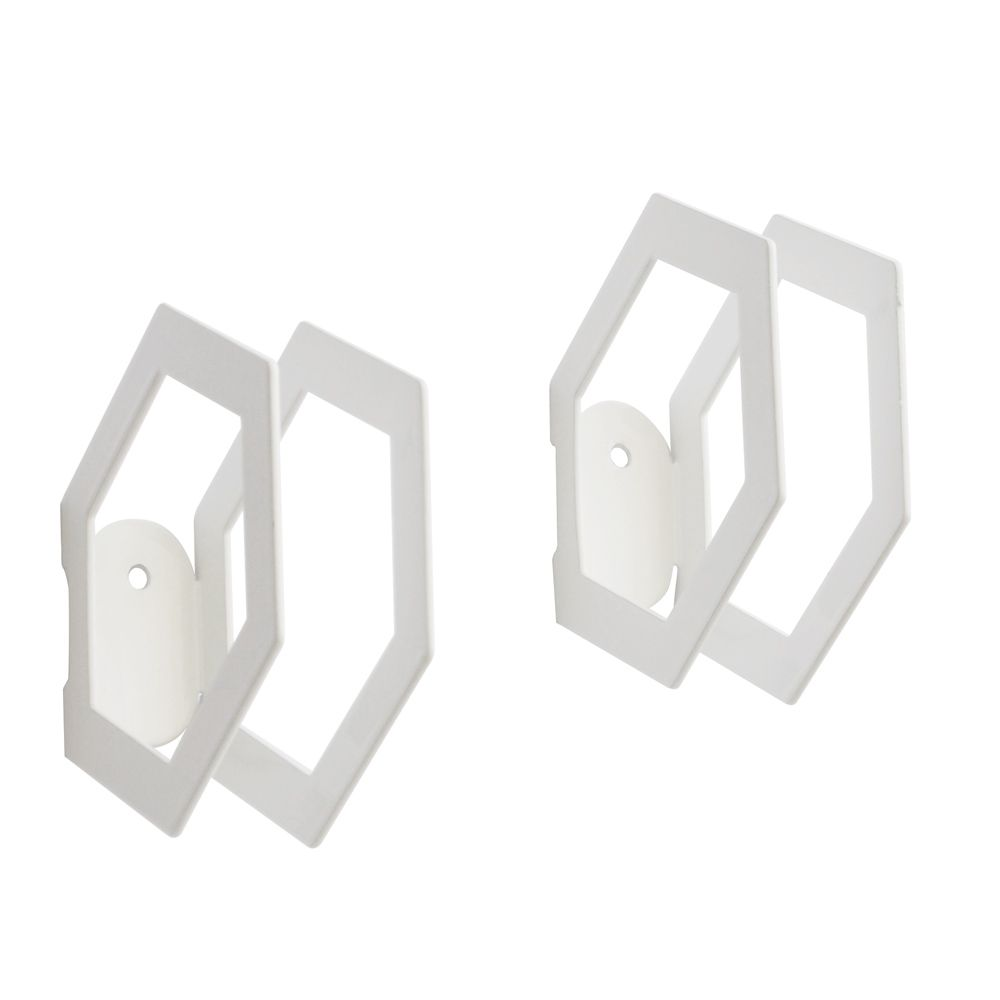 Patères hexagones blancs (set de 2 pièces) * Tresxics