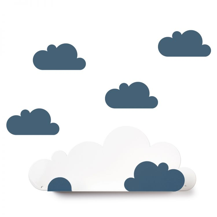 Etagère nuages et stickers nuages * Tresxics