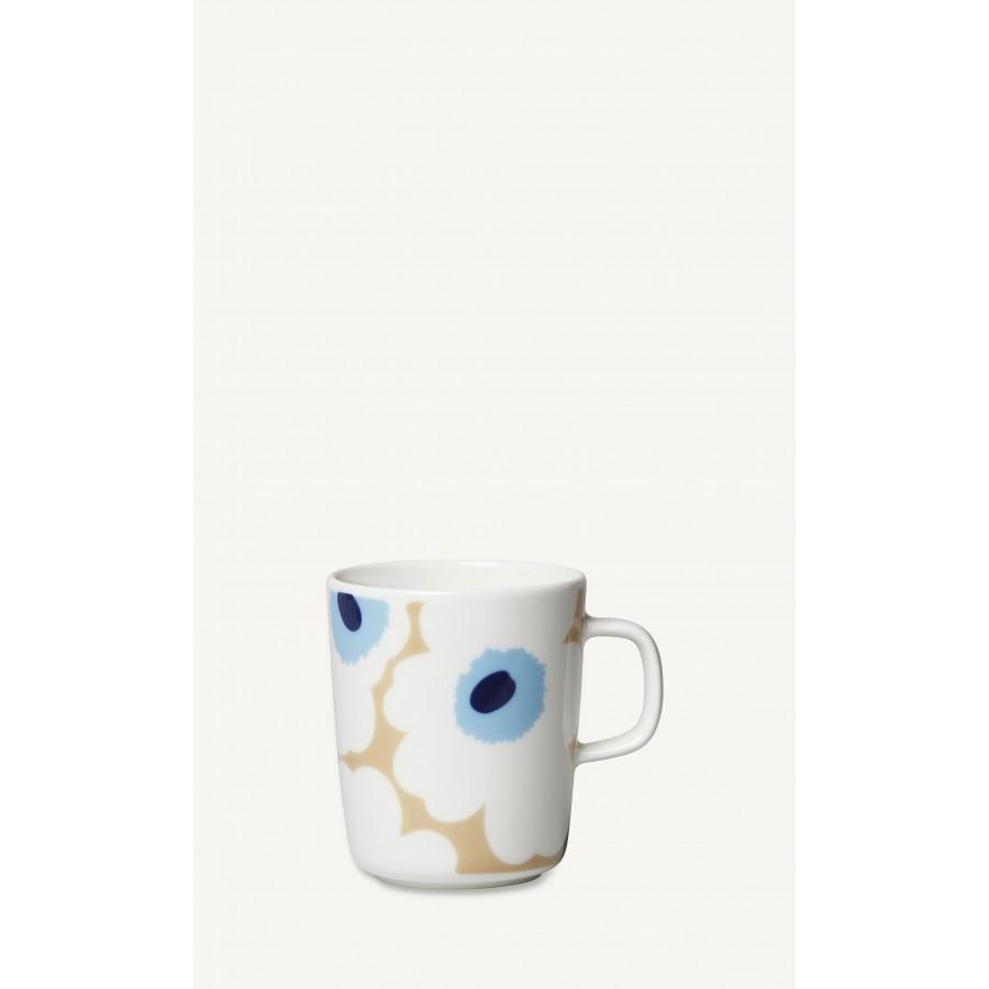 Mug / Tasse Unikko 2,5dl Flower blanc/bleu/beige * Marimekko