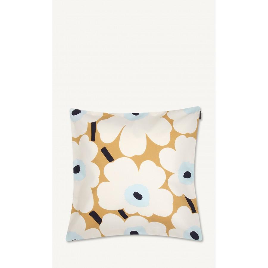 Housse de coussin Pieni Unikko Flower bleu/blanc/beige * Marimekko