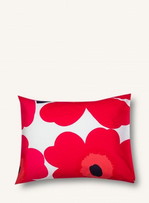 Taie d'oreiller Unikko rouge 65x65cm * Marimekko