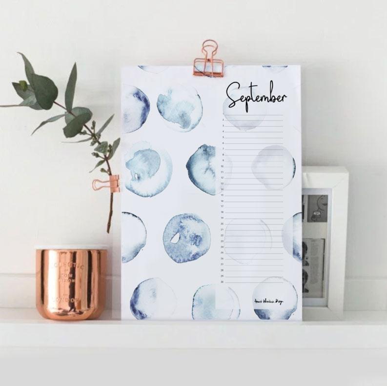 Calendrier d'anniversaire perpétuel A4 * Annet Weelink par Dutch Brands Collective