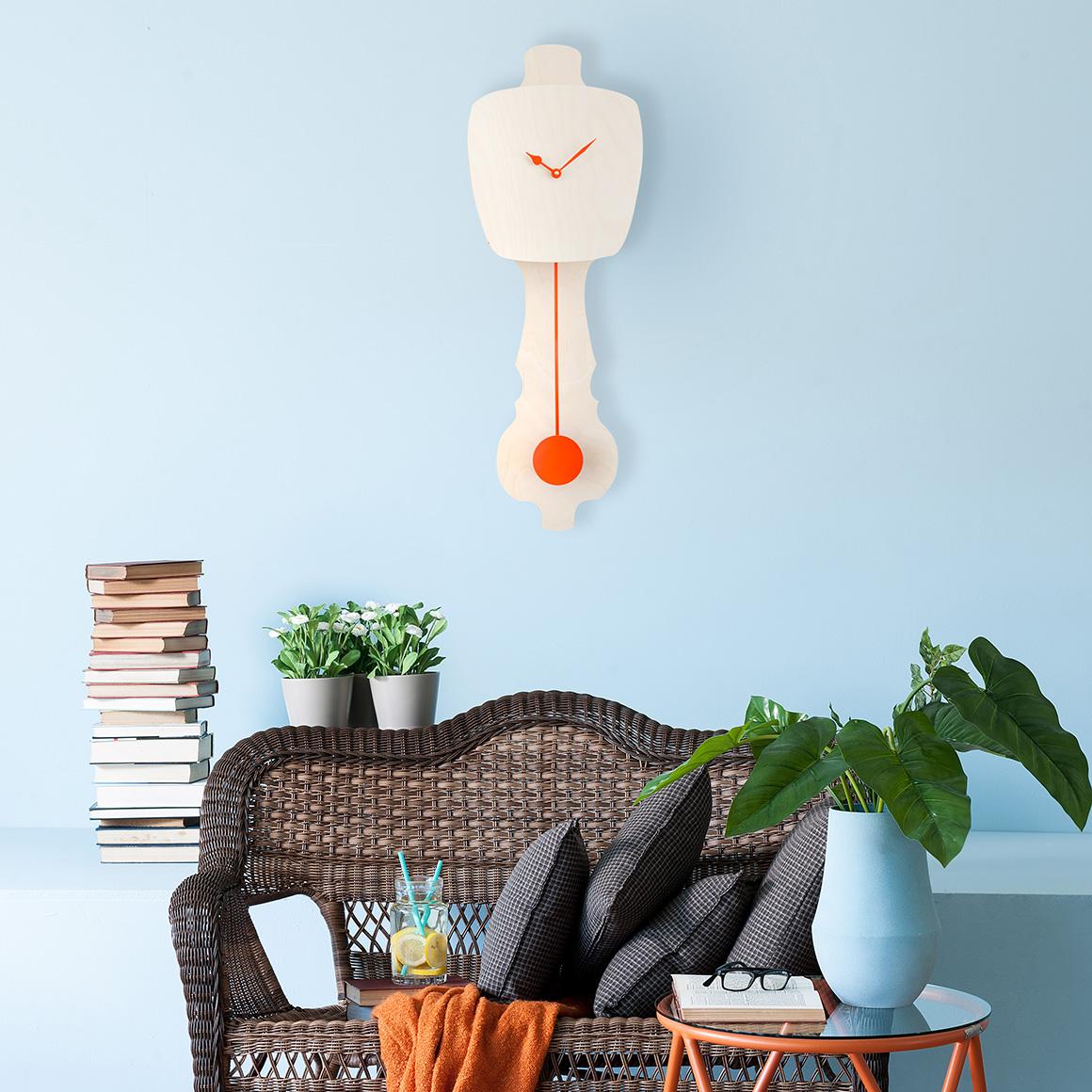 Horloge en bois naturel * Kloq