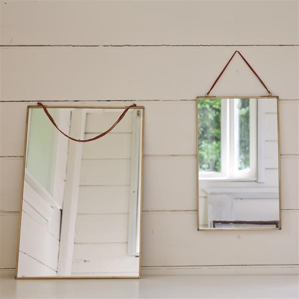 Miroir Kiko rectangulaire doré 40x25cm * Nkuku