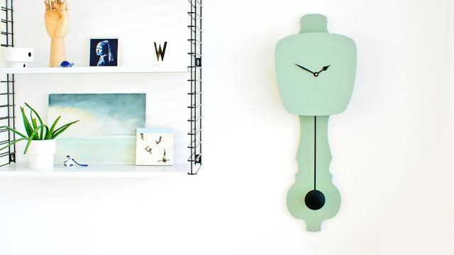 Horloge vert d'eau * Kloq