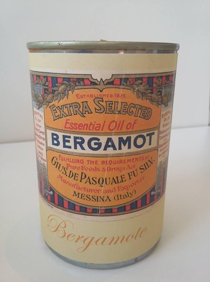 Bougie conserve Bergamote * Zeste de patine
