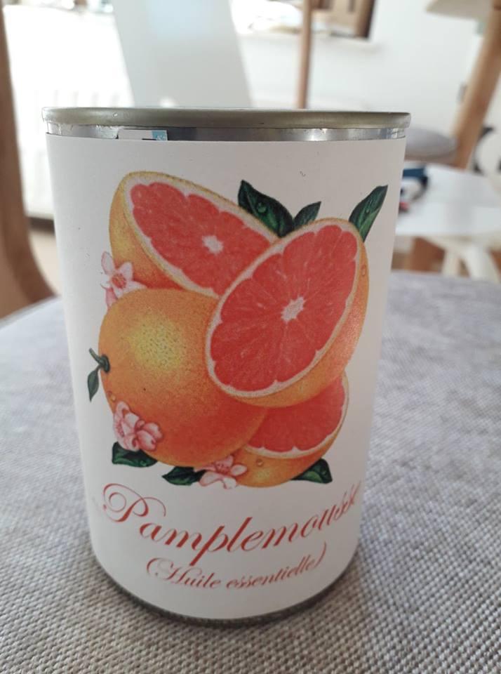 Bougie conserve Pamplemousse (huile essentielle) * Zeste de Patine