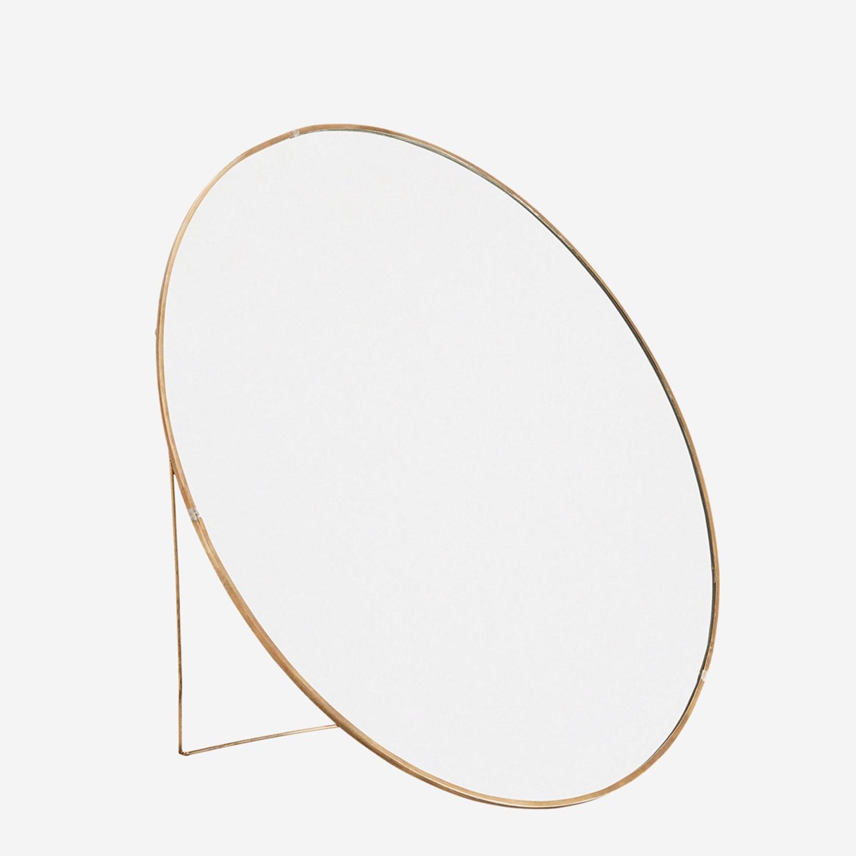 Miroir rond en laiton sur pied / à suspendre* Madam Soltz