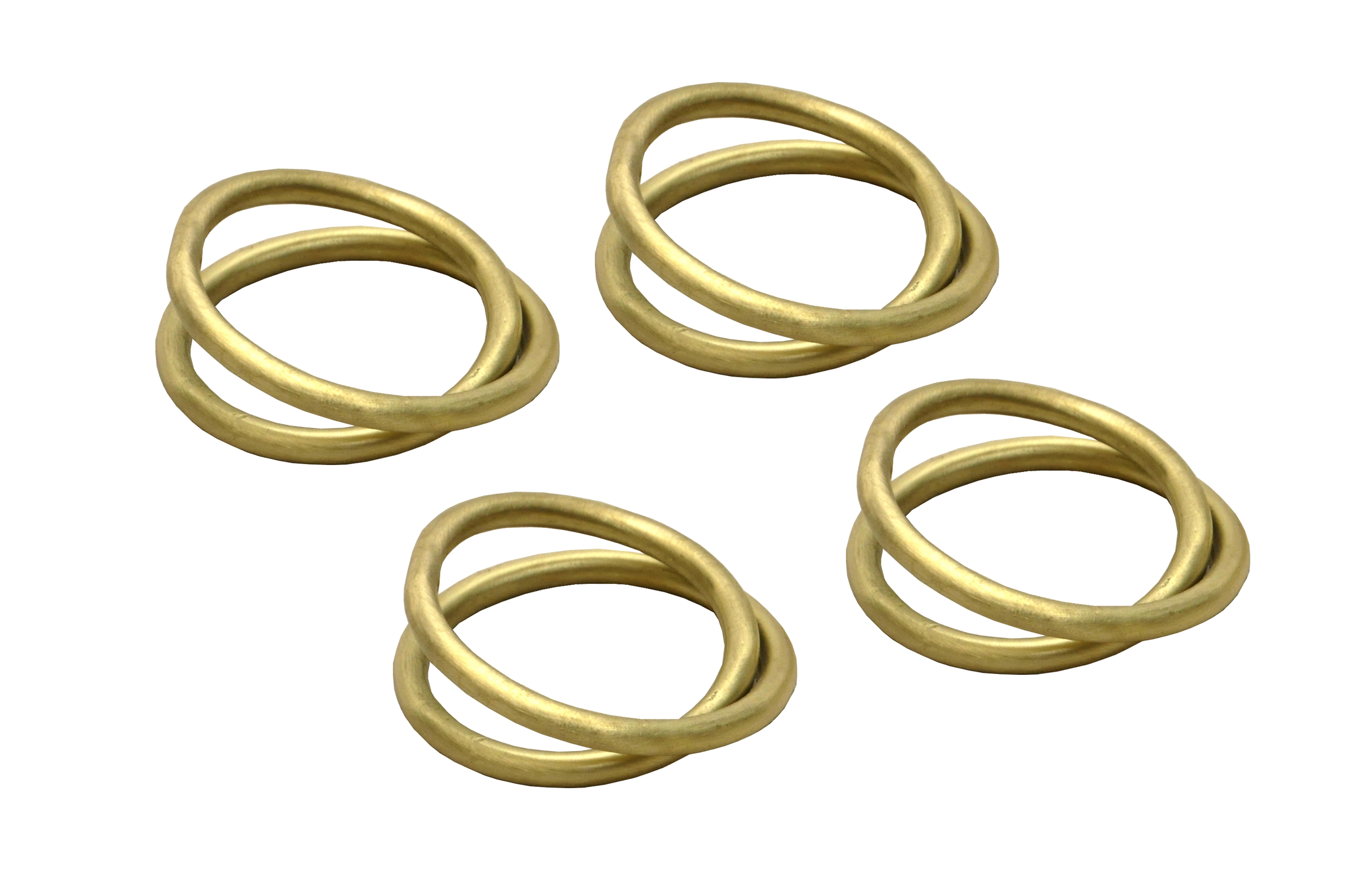 Set de 4 anneaux de serviette dorés * Dassie Artisan