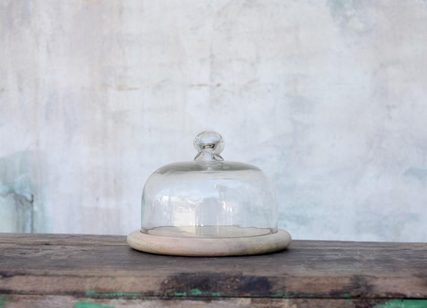 Cloche ø 16cm en verre recyclé * Nkuku