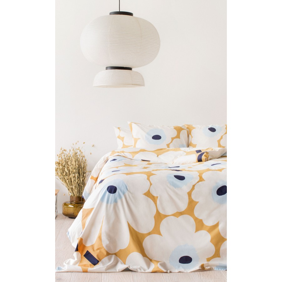 Housse de couette 240x220 cm Unikko beige, écru, bleu * Marimekko