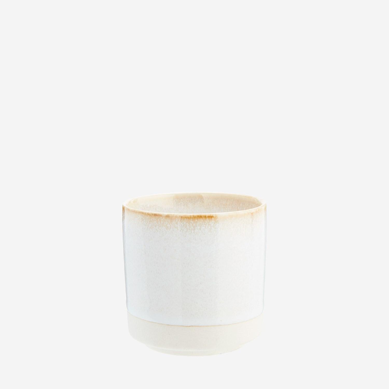 Tasse à thé en céramique émaillée écru * Madam Stoltz