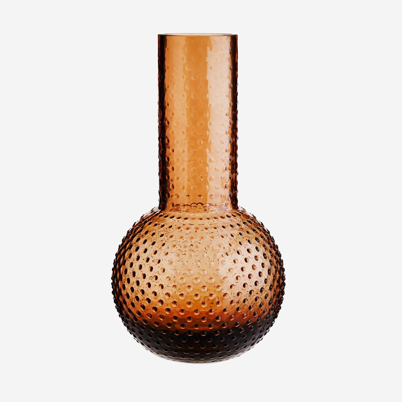 Vase à pois en verre ambré * Madam Stoltz