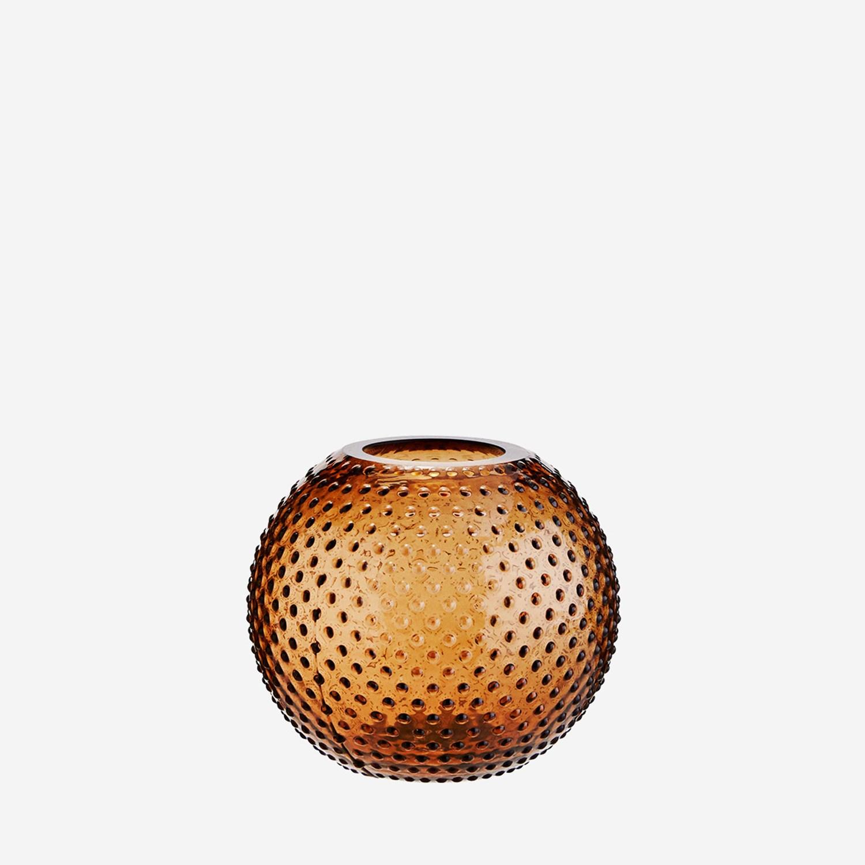 Vase rond à pois en verre ambré * Madam Stoltz