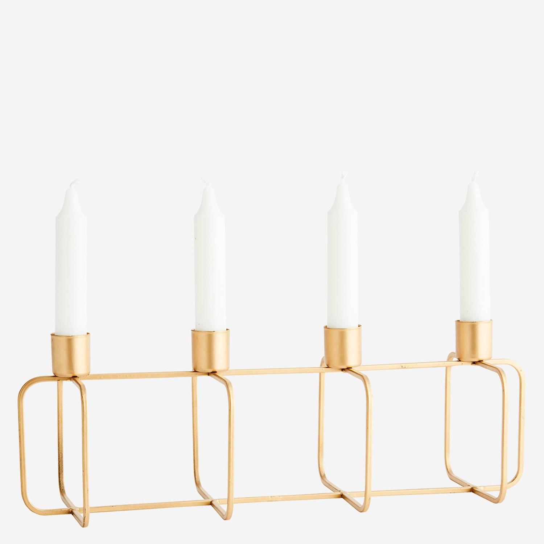 Chandelier rectangulaire doré 4 bougies * Madam Stoltz