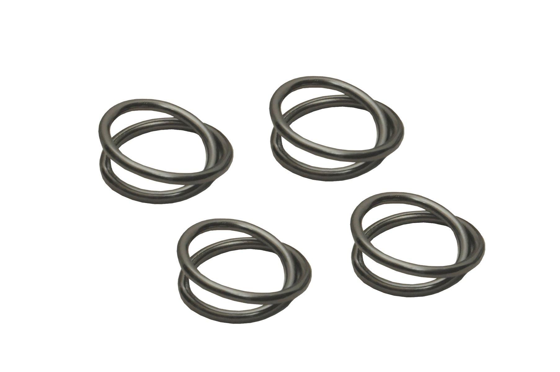 Set de 4 anneaux de serviette noir antique * Dassie Artisan