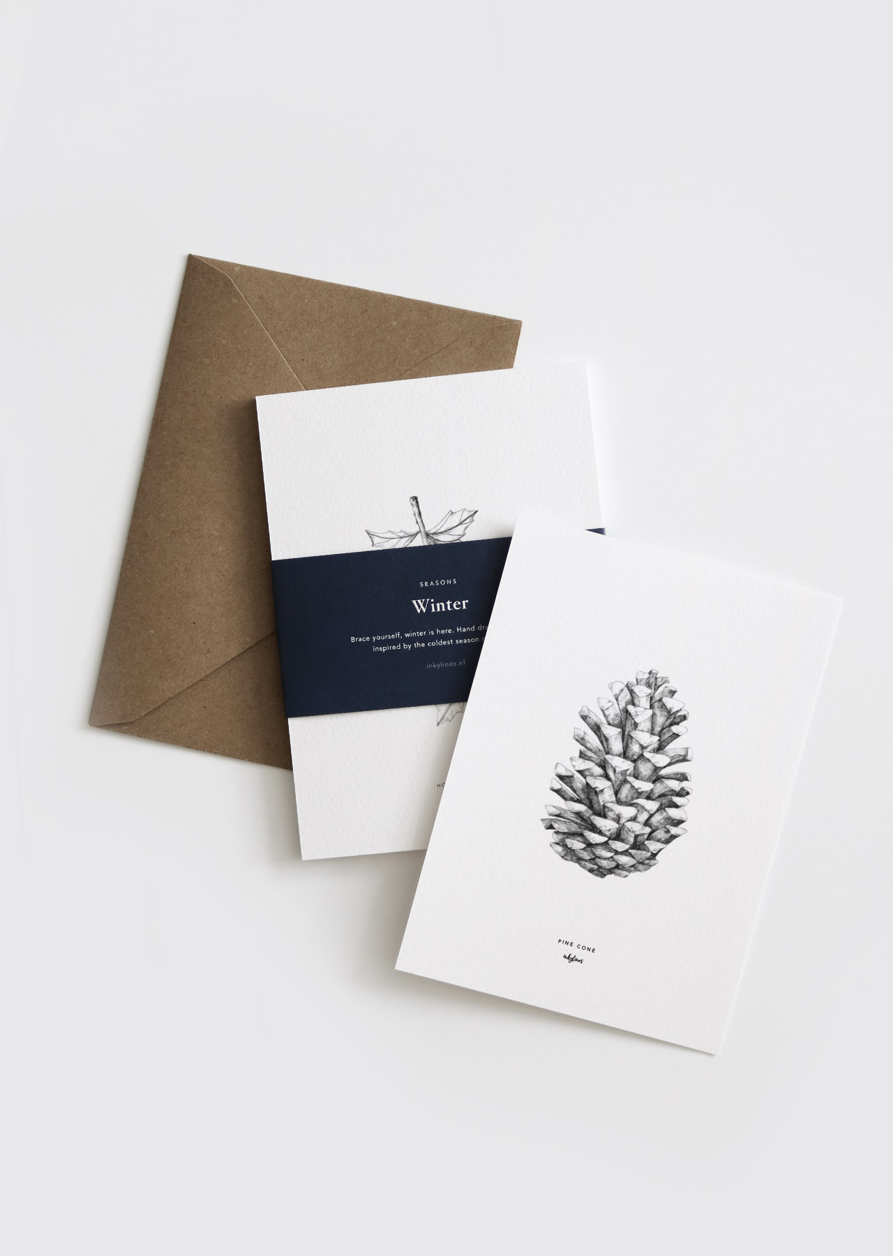Set de cartes de Noël * Inkylines par Dutch Brands Collective