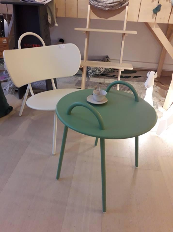Petite table basse Swim H. 48 cm vert vénitien * Bibelo