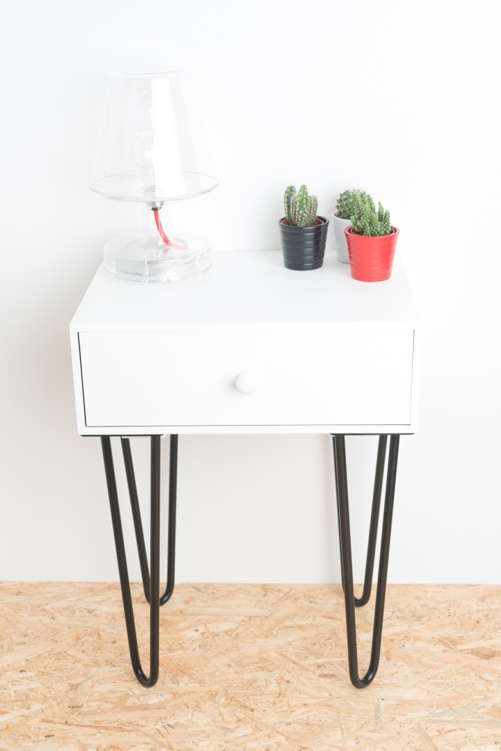 Pied de table / de meuble  en épingle 40cm * Mwin