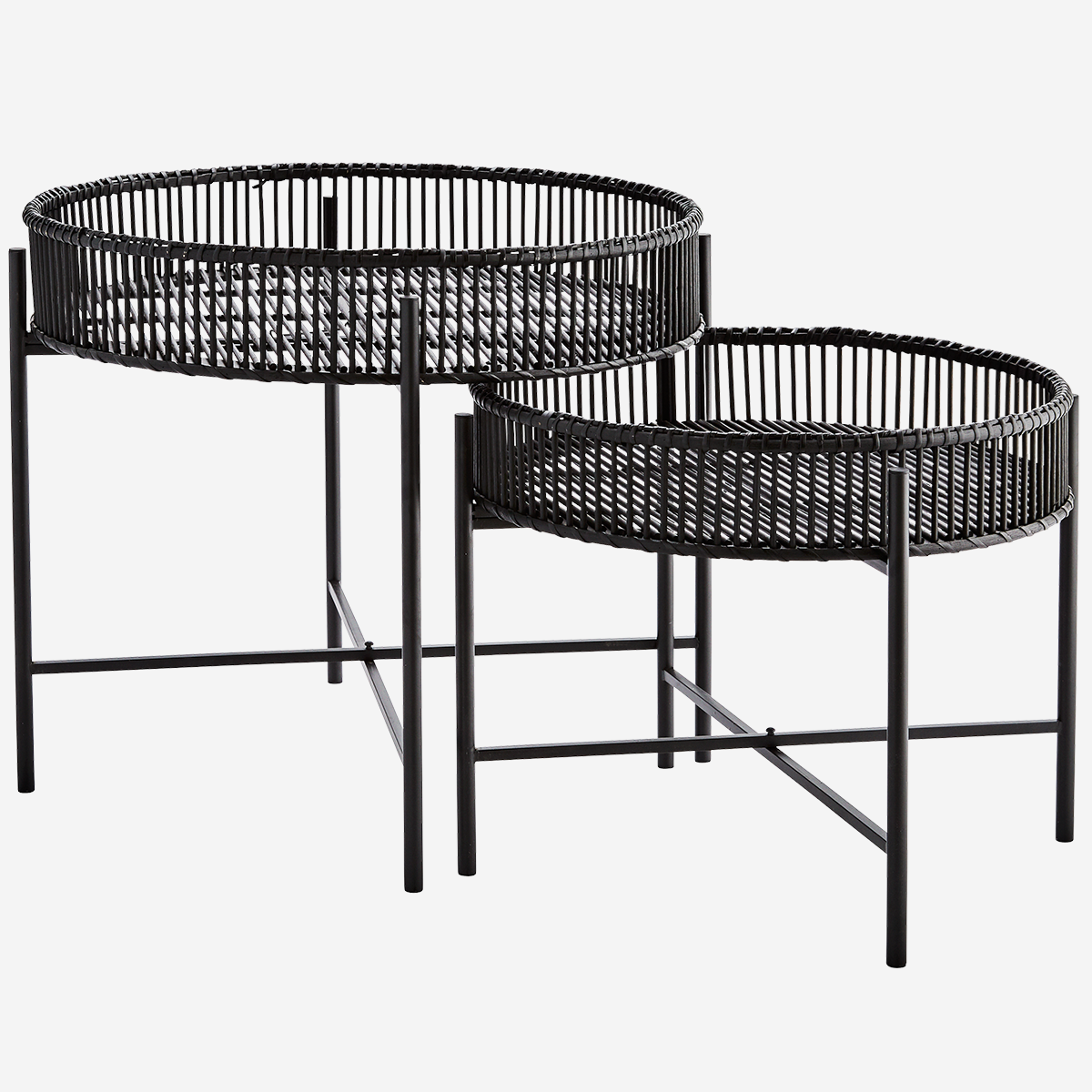 Duo de tables en bambou noir * Madam Stoltz