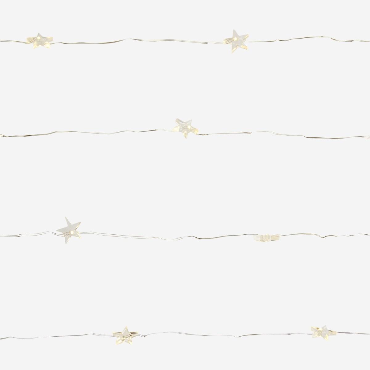 Guirlande lumineuse sur piles