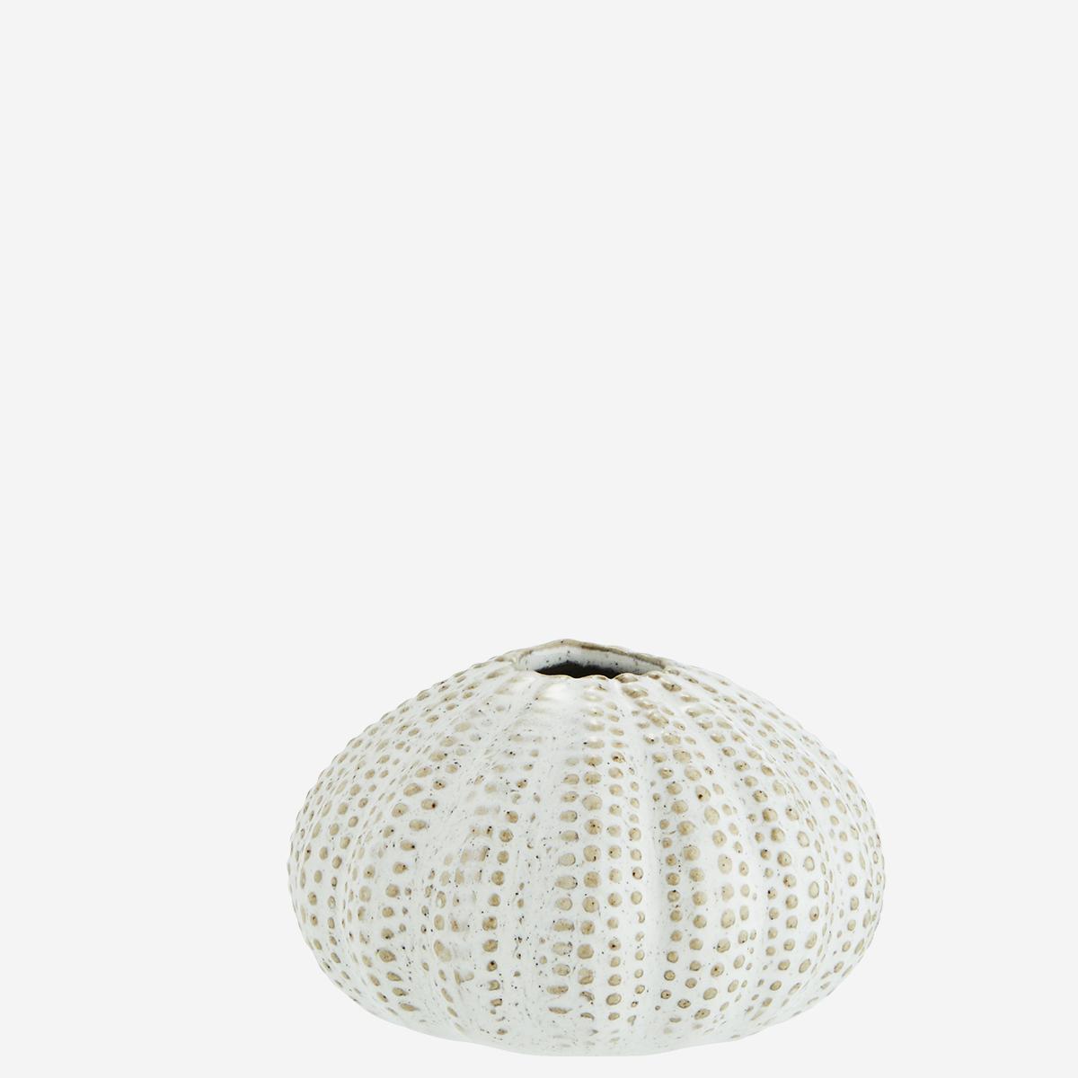 Mini-vase oursin émaillé blanc * Madam Stoltz