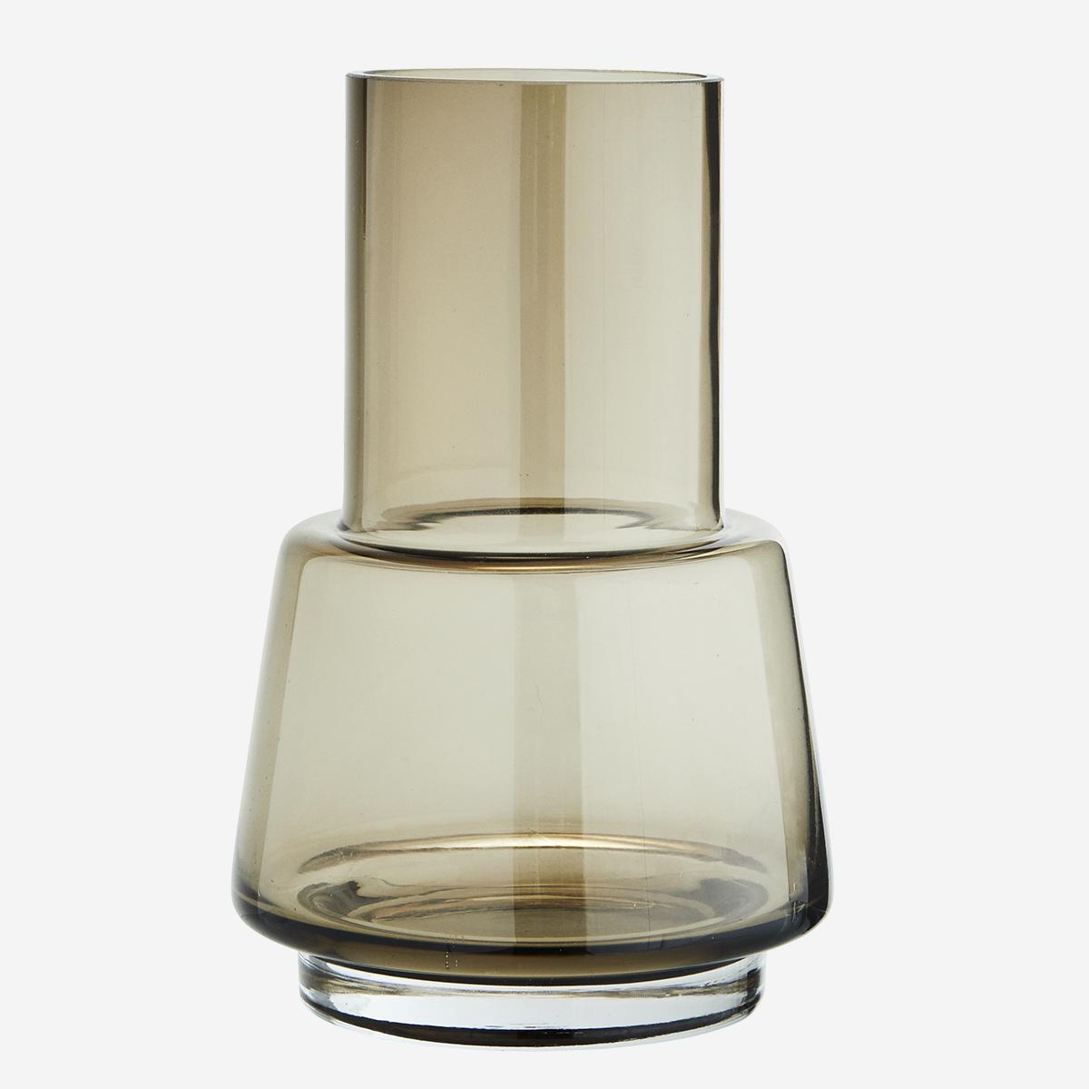 Vase en verre fumé