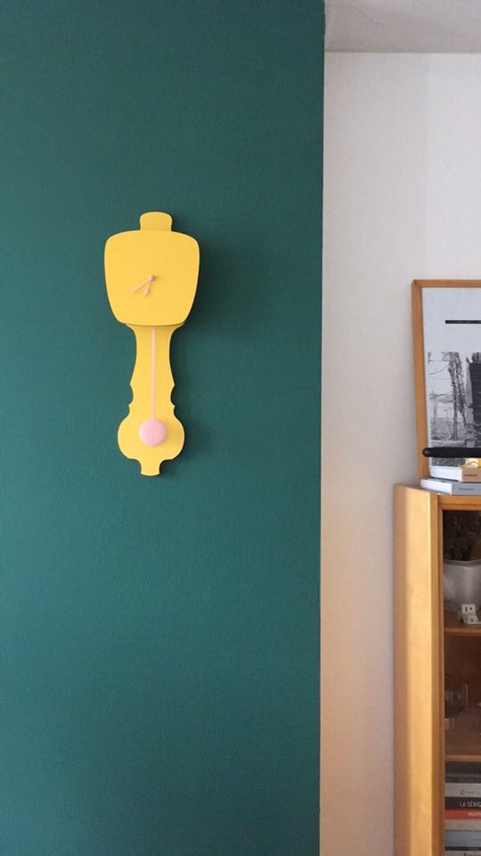 Horloge jaune * Kloq