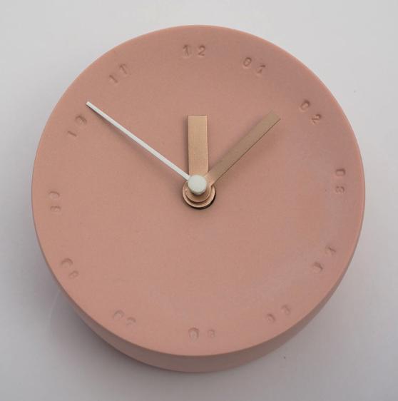 Horloge murale en porcelaine 10cm rouge/blanc * Studio Harm en Elke