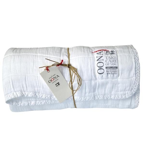 Couvre lit / Plaid en coton lavé 230x250