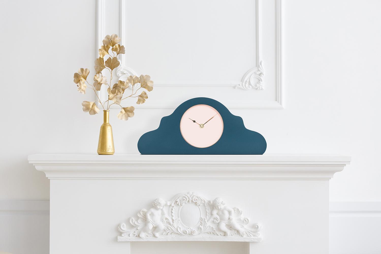 Horloge à poser bleue pétrole * Kloq