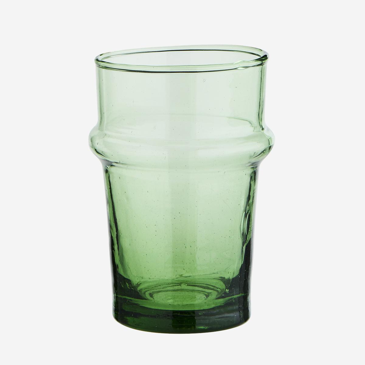 Verre Beldi moyen vert (verre recyclé) * Madam Stoltz