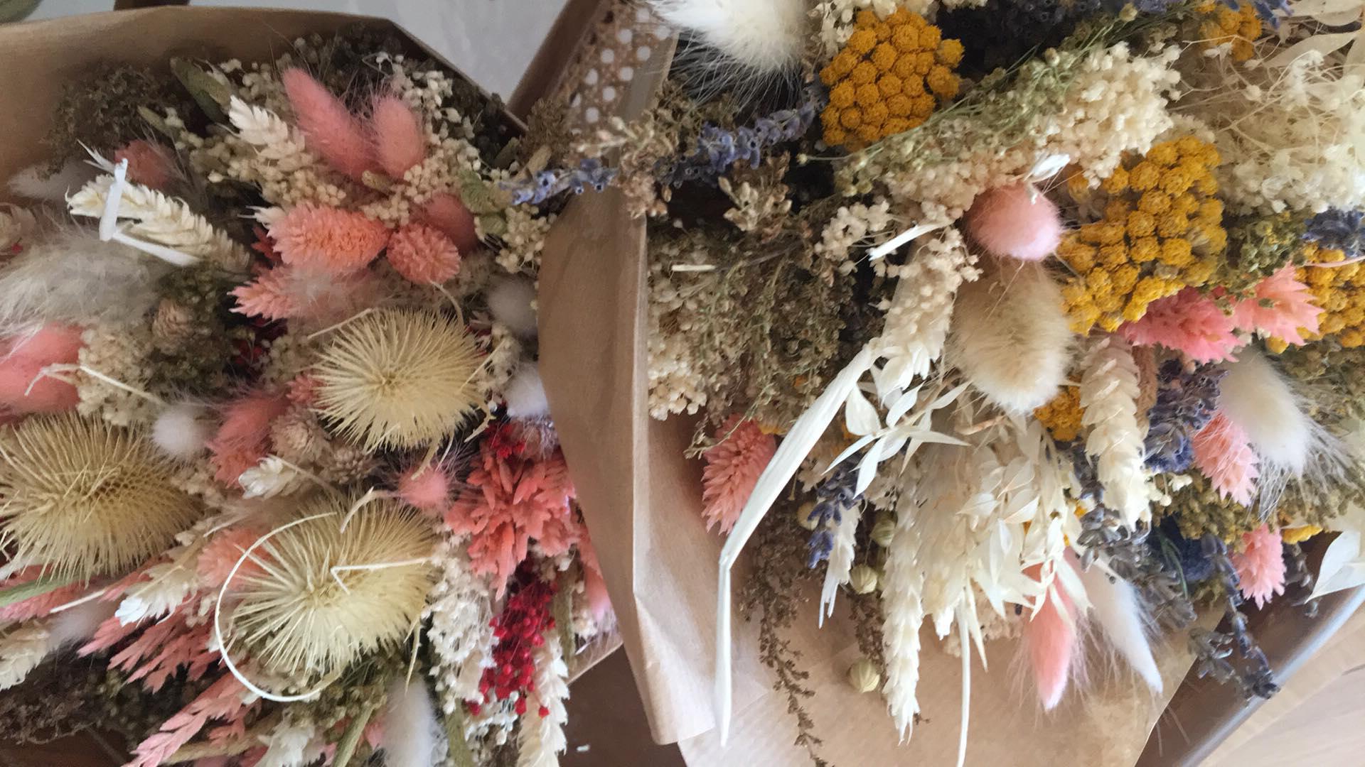 Bouquet de fleurs séchées Grand * La Fabrique aux Fleurs