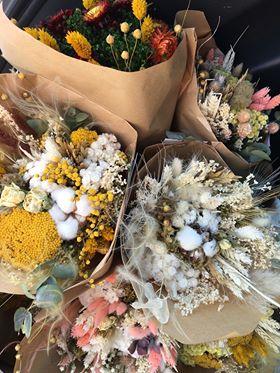 Bouquet de fleurs séchées Moyen * La Fabrique aux Fleurs