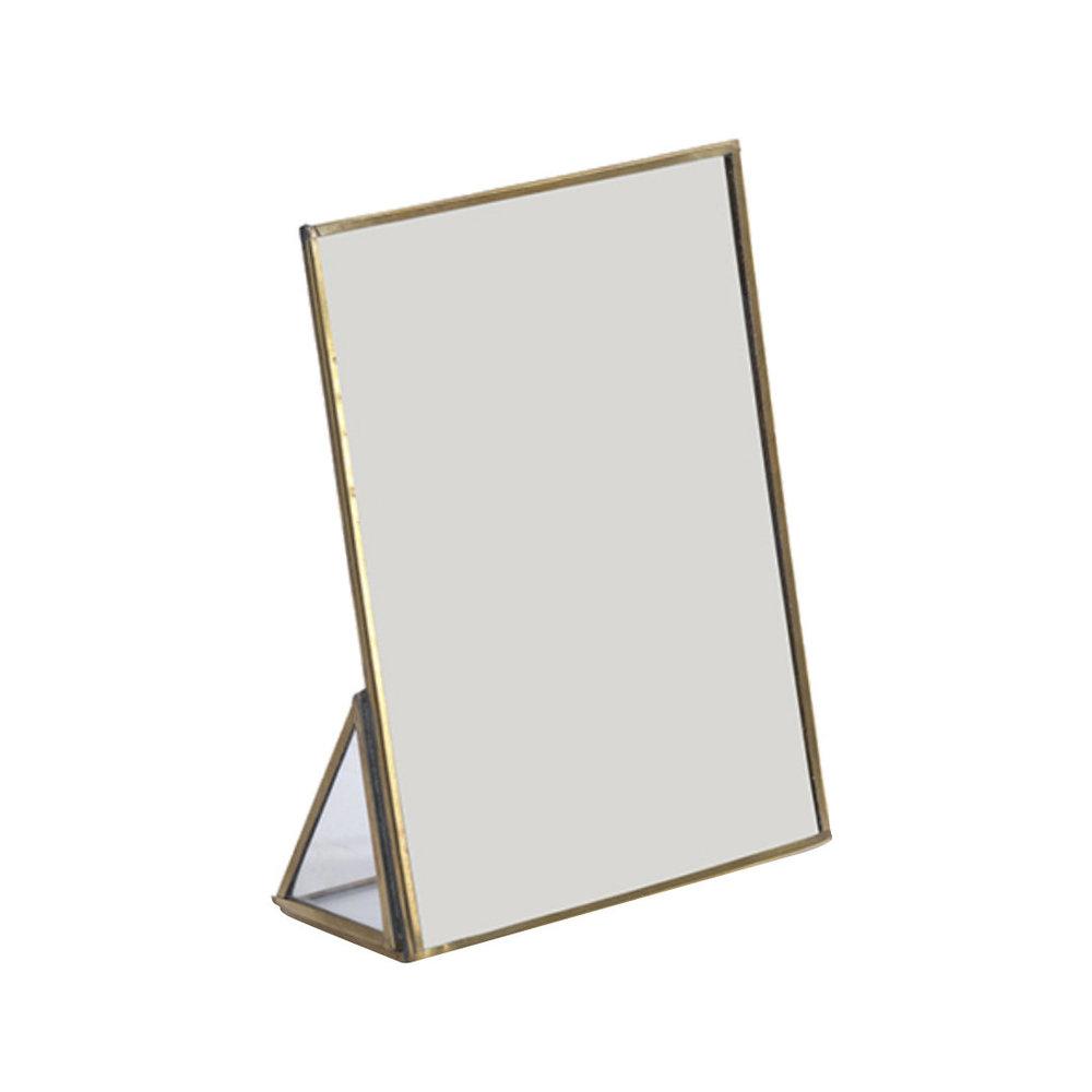 Miroir sur pied Kiko bord en laiton * Nkuku