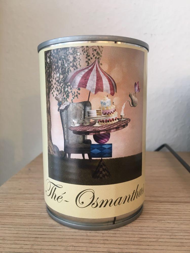 Bougie conserve Thé Osmanthus * Zeste de patine