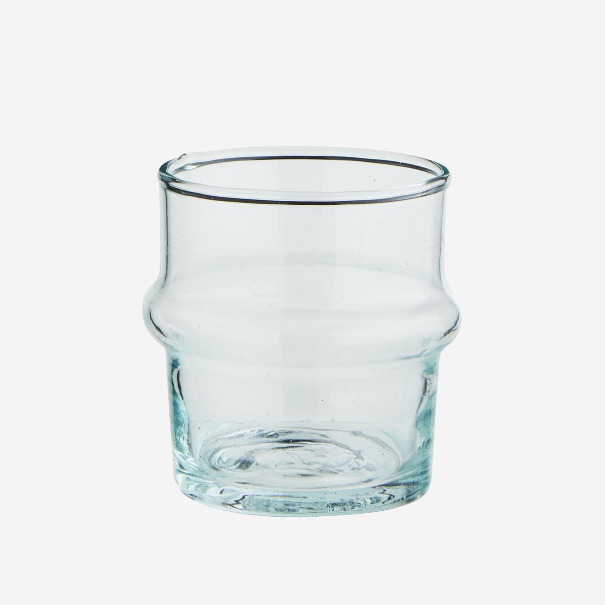 Petit verre Beldi transparent (verre recyclé) * Madam Stoltz