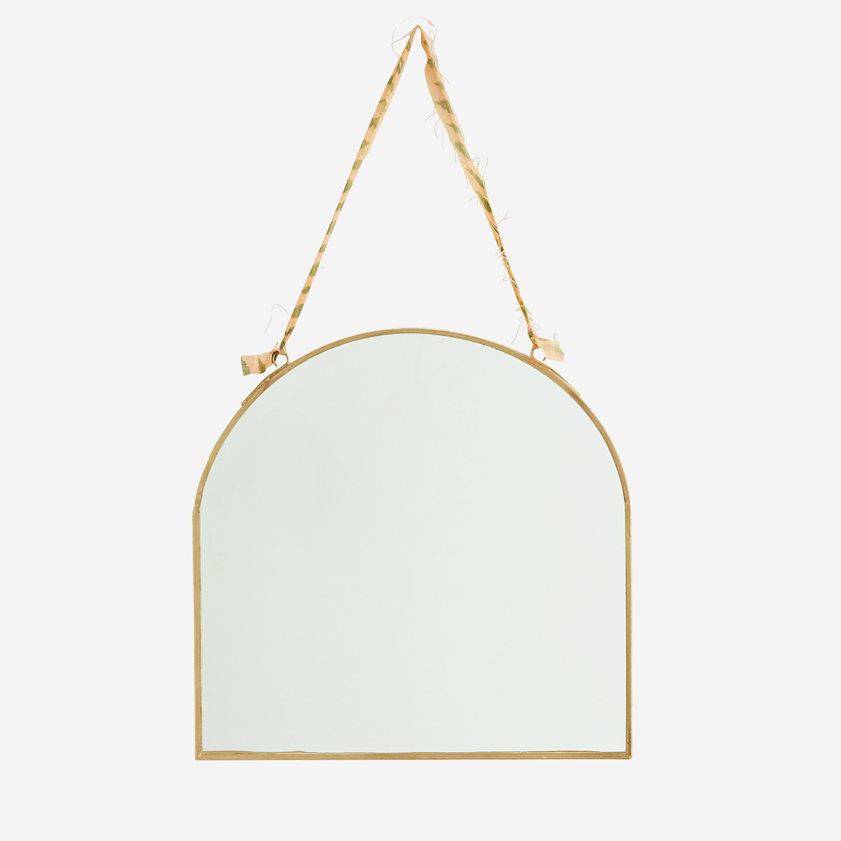 Miroir laiton bord haut arrondi * Madam Stoltz