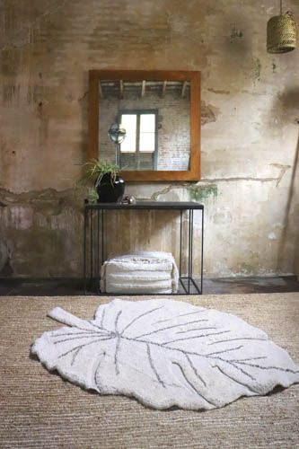 Tapis lavable Monstera natural * Lorena Canals