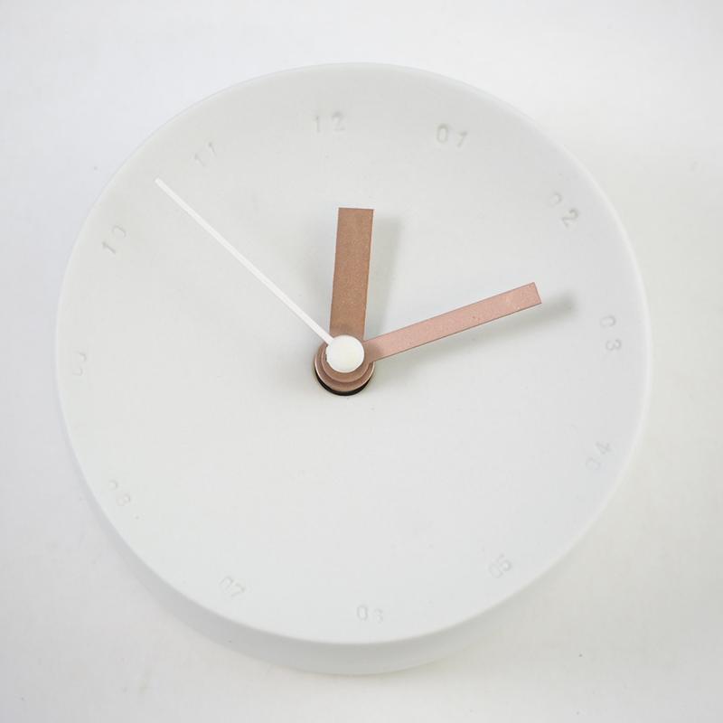 Horloge murale 10cm Blanc/blanc * Studio Harm en Elke