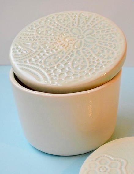 Boîte en céramique avec couvercle * Kesemy Design
